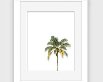 Palm Tree print, Printable wall art, Tropical and beach wall art, Instant Download A116
