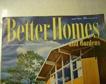vintage 1956 better homes and gardens-378 pages-1956 magazine-