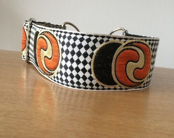 """Romeo's Yin Yang. 2"""" Wide Ribbon Martingale or Quick Release Dog Collar"""