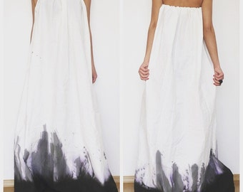 Ombre Dress, Wedding Dress, Maxi Kaftan Dress, Maxi Dress, Long Dress, Full Dress, Strapless Dress, Cotton Dress, Summer Dress, Boho Dress