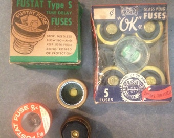 Vintage fuses, 8 pcs in all