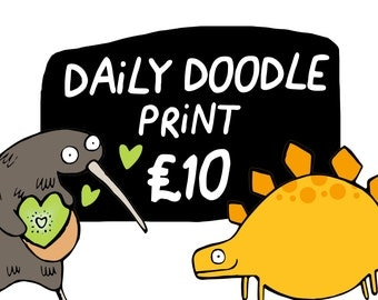 Daily Doodle Print - Any Katie Abey Daily Doodle as an A4 Print - Signed