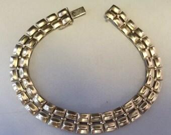 """Vintage 14K Yellow Gold 10mm Unique Link 7 1/2"""" Bracelet 14.6 Grams!"""