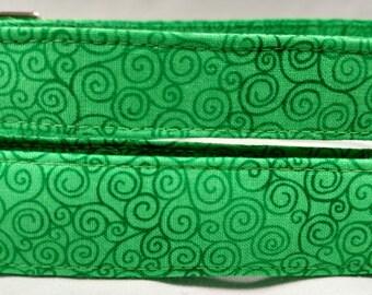 Bright Green Swirl Dog Collar