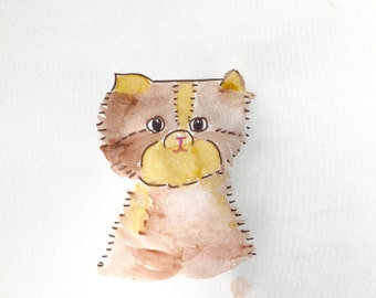 Cat, Brown Cat, Lilymoonsigns, Cute
