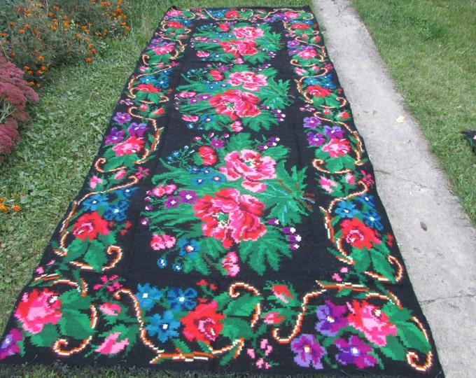 Bessarabian Kilim. Vintage Moldovan Kilim,Floor Rugs Handmade 55 years old, handmade. Carpets, Eco-Friendly. Slob