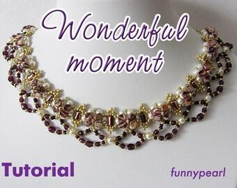 Necklace Wonderful moment. Tutorial PDF