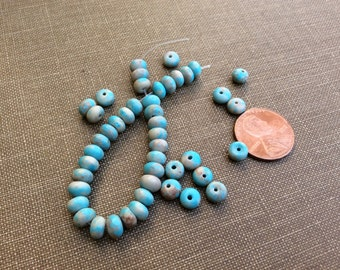 Aqua Blue Jasper Beads, Jewelry Supply, Blue Beads