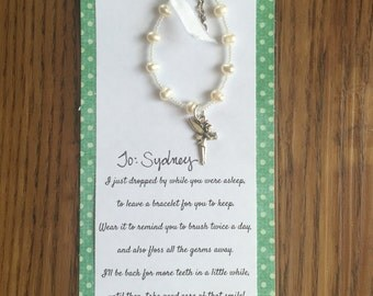 Tooth fairy bracelet, tooth fairy gift, tooth fairy present, lost a tooth gift
