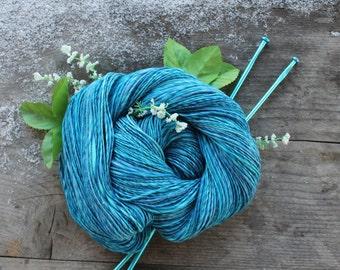 Made from ice - handspun merino yarn