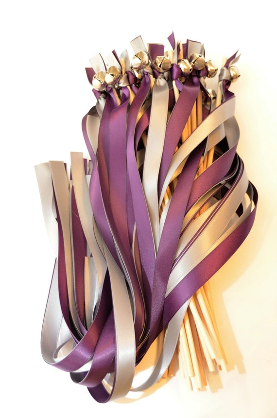 175 Twirling Wedding Wand Ribbon Bell Streamers Ribbon Bell