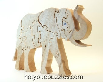 Elephant Jigsaw puzzle with Swarovski Crystal eyes