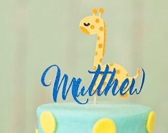 Giraffe Cake Topper, cake tpper, circus cake topper, zoo cake topper