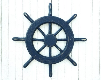 Ship Wheel- Captains Decor-Boat Lover-Ocean Lover-Boat House Decor-