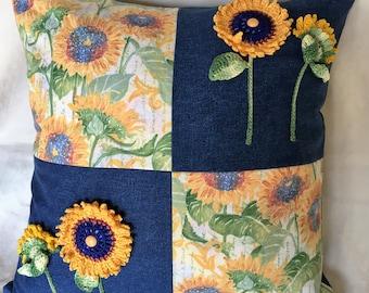 Sunflower Pillow Cover