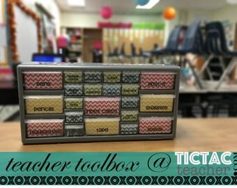 Custom Teacher Supply Toolbox