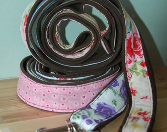 Patchwork floral dog lead