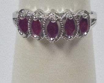 Natural Ruby Ring 925 Sterling Silver