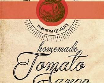 Homemade Tomato Sauce Jar Labels
