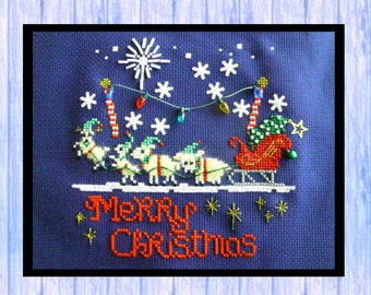 McLamby Christmas Extravaganza!  Original Christmas Cross Stitch Chart from Scotland, SHEEP, Instant PDF Download, Very CUTE!