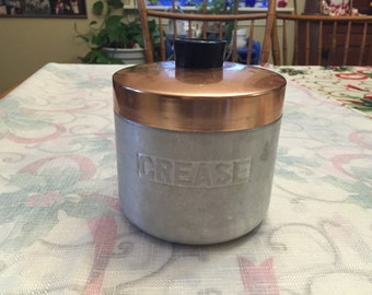 Vintage Century Aluminum Ware Grease Container
