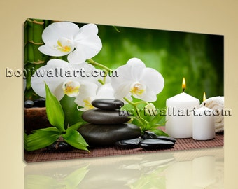 """Large Size Prints Feng Shui Wall Art Contemporary Canvas Modern Giclee Print, Zen Art Painting, Large Size Prints, 36""""X24"""""""