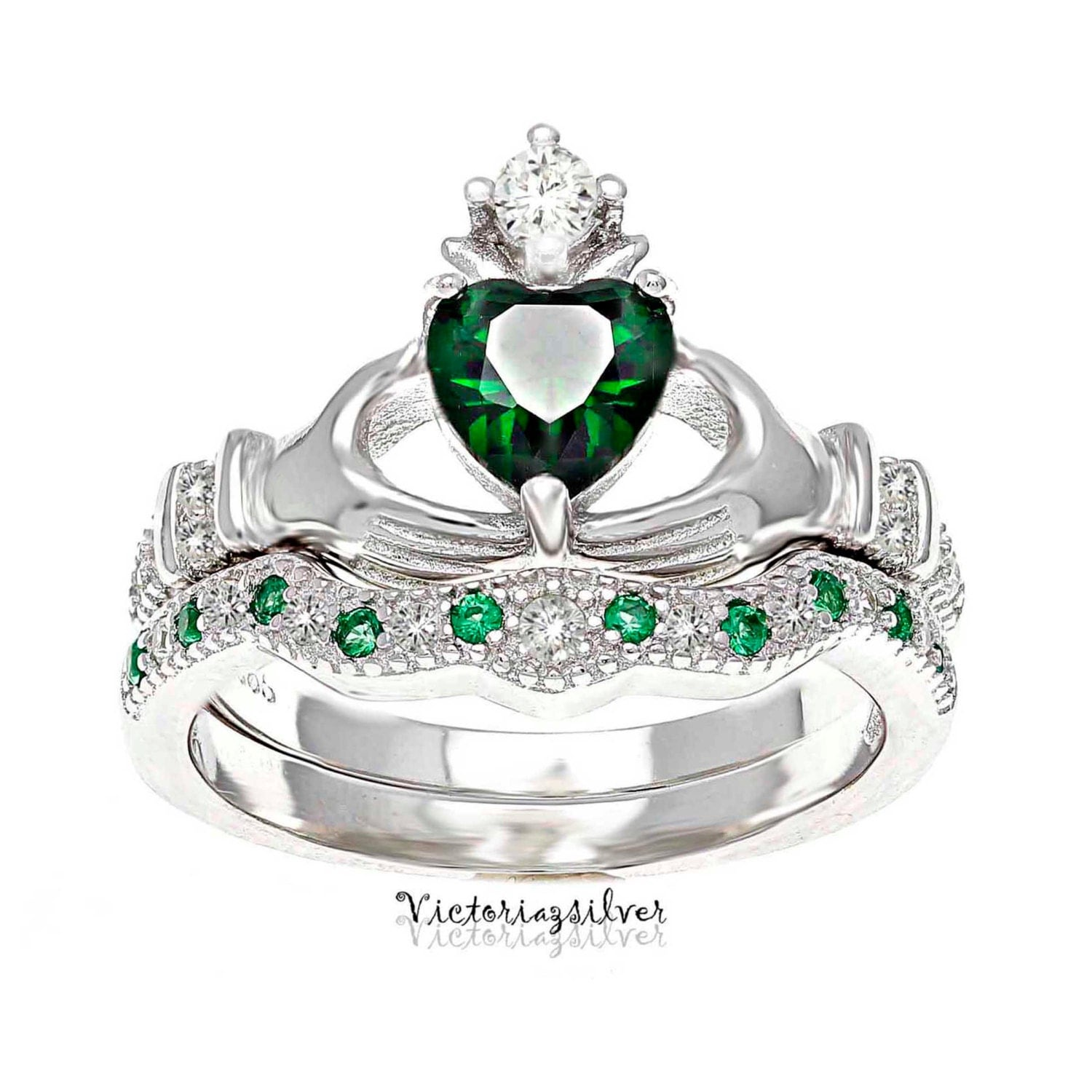 925 sterling silver claddagh ringstackable claddagh. Black Bedroom Furniture Sets. Home Design Ideas