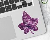 Alpha Phi   Small Ivy Leaf Decal   Sorority Big Little Reveal Gift   Official Licensed Product   AP-SD