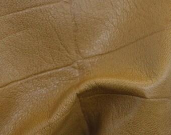 "Fashion Light Oak Large Reptile Lambskin Leather Hide 4"" x 6"" Pre-cut 1 1/2 ounces TA-39002 (Sec 3,Shelf 6,B,Box 6)"