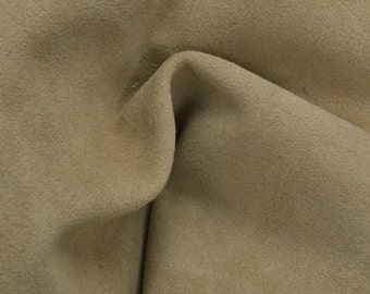 "Light Brown Leather Suede Deer Hide 8"" x 10"" Pre-cut 2-3 ounces TA-34413 (Sec. 3,Shelf 4,B)"