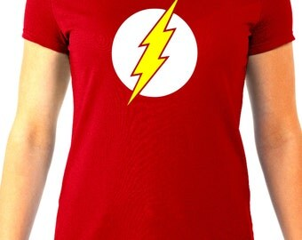 The Flash Womens Tee - As seen on the Big Bang Theory