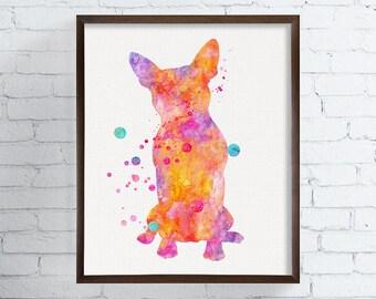 Watercolor Boston Terrier, Boston Terrier Art, Boston Terrier Print, Boston Terrier Poster, Dog Wall Decor, Dog Lover Gift, Kids Room Decor