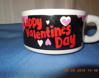 Valentines soup mug or coffee cup.