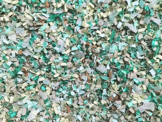 Jade Seafoam Mint Sage Green Grey Copper Confetti