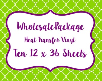 Wholesale Package for Patterned Craft Vinyl and Heat Transfer Vinyl // Any Patterns in our Shop!!