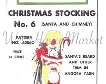 PATTERN for Vintage Personalized Grace Ennis No. 6 Santa & Chimney Christmas Stocking - HARD COPY