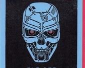 You turn me on. - Robot Cyborg Valentine's Letterpress Card