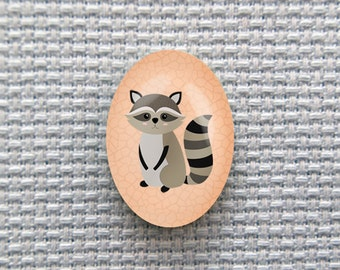 Magnetic Raccoon Needle Minder for Cross Stitch, Embroidery, & Needlecrafts (18mmx25mm with Strong Magnet)