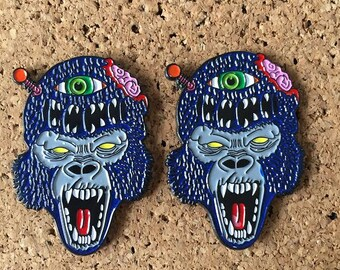 Gorilla Alien Monster Pins
