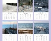2016 Desk Calendar, Ocean Photography, 5x7, Fine Art Prints, Nature, Ocean