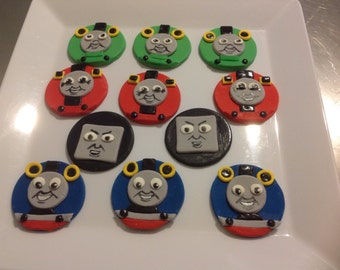 14 Fondant Tomas Tank Cup Cake toppers.