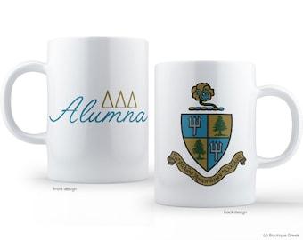 TriDelta Delta Delta Delta Crest Alumna Sorority Mug