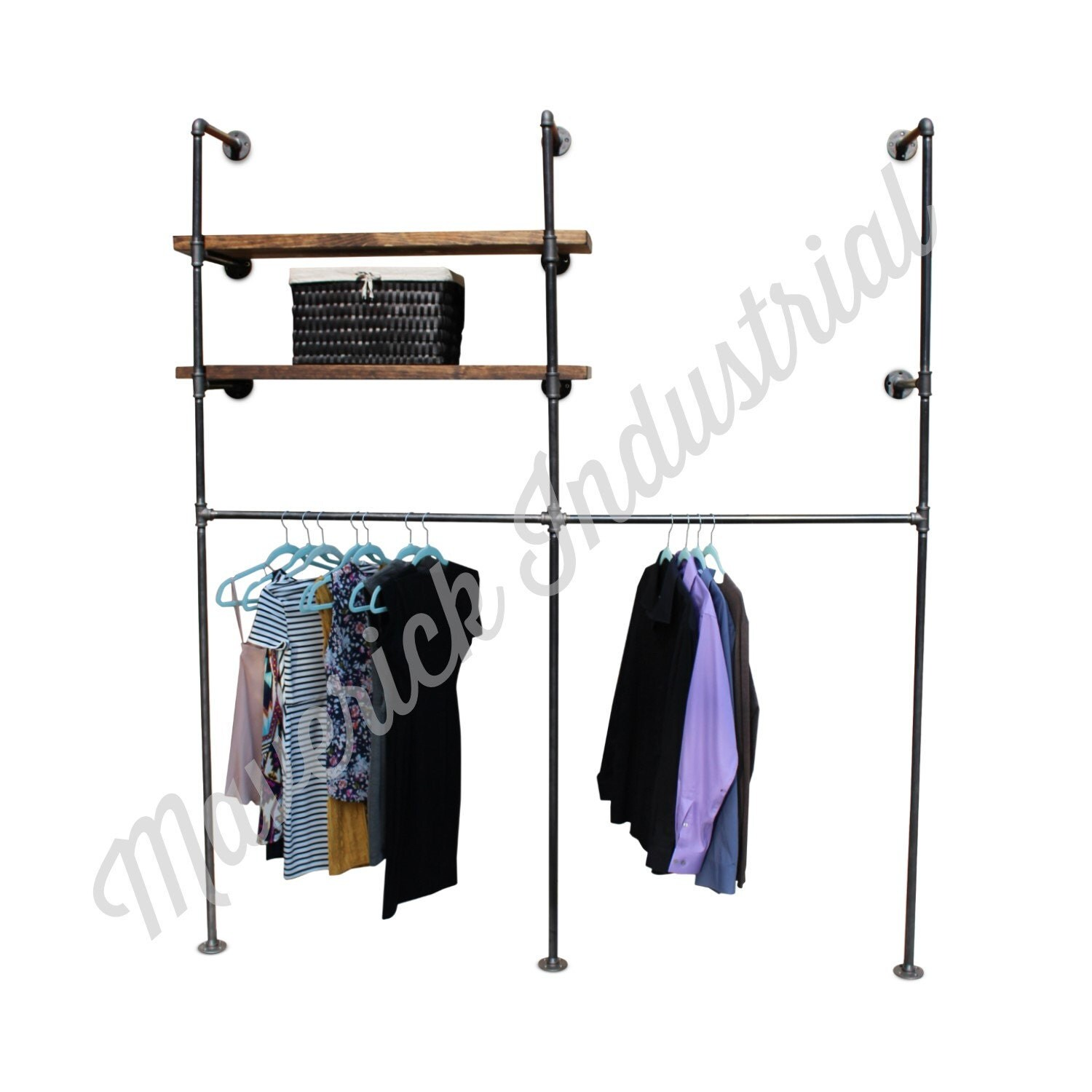 Wall Mounted Retail Fixtures : Industrial Retail Wall Display Wall Mounted Clothes Rack