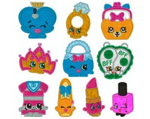 SHOPKINS 2 - Machine Applique Embroidery - 10 Patterns in 3 Sizes - Instant Digital Download