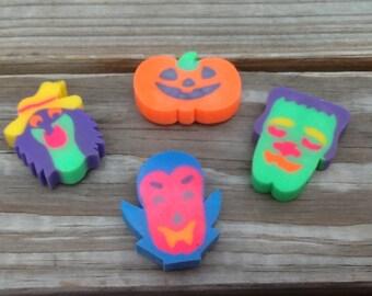 Vintage LISA FRANK Halloween Eraser Set