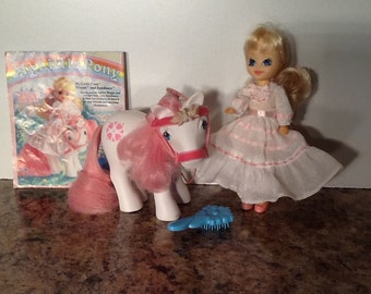 G1 My Little Pony MEGAN & SUNDANCE Complete Original Set