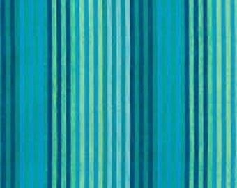 CATERPILLAR Stripe BLUE Woven WCATERBLUEX by  Kaffe Fassett fabric sold in 1/2 yard increments