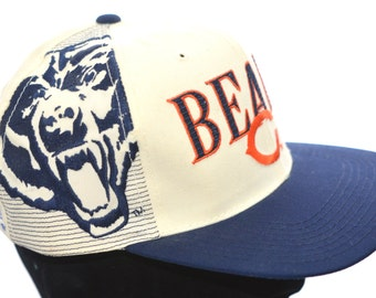 80s Chicago Bears VTG Snap Back Hat in Superb Condition - Like New with Tags Still On - Extremely Rare!