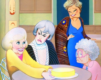 THE GOLDEN GIRLS limited edition art print by Dave Woodman