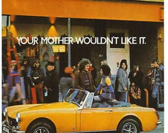 Vintage MG Midget Advertising Poster A3 reprint